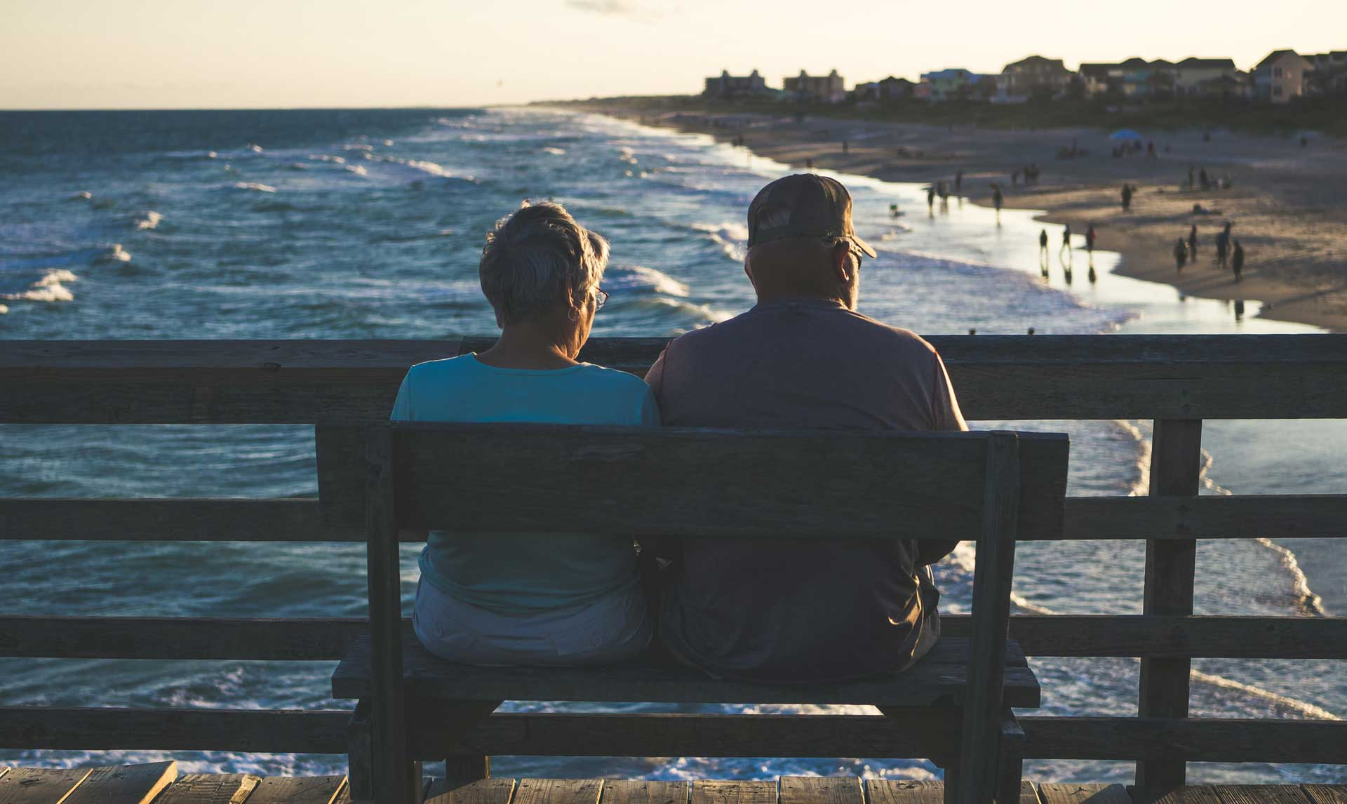Couple looking at the ocean